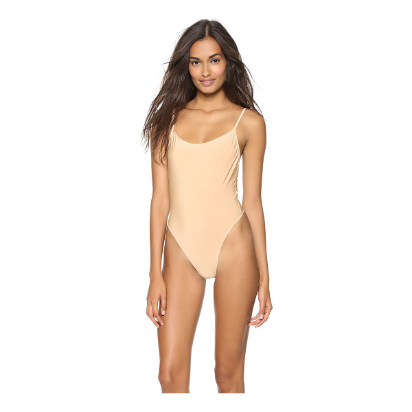 ONLY HEARTS second skins bodysuit - This jersey thong bodysuit features an open back....