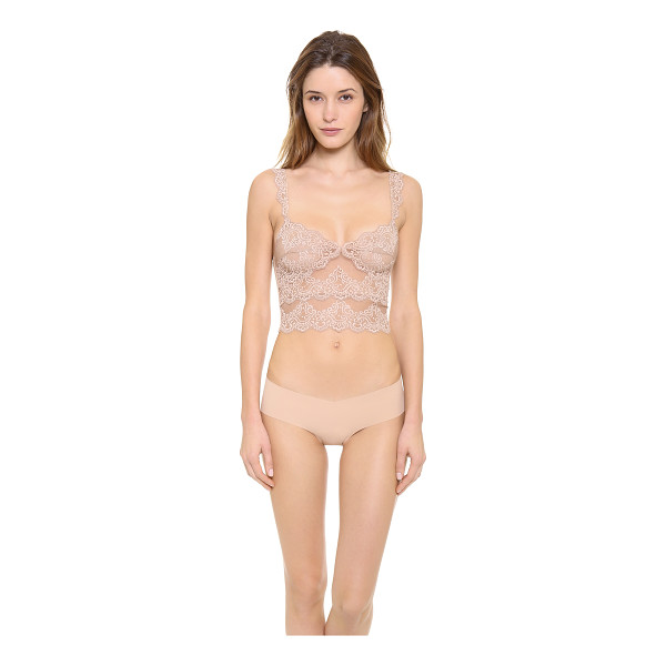 "ONLY HEARTS So fine lace cropped camisole - ""This cropped lace camisole features a V neck and a jersey..."
