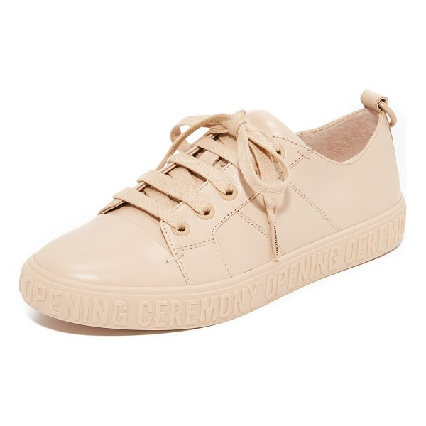 OPENING CEREMONY mina logo sneakers - A logo-stamped platform grounds these lightly textured...