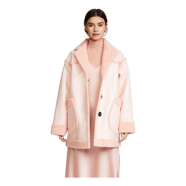 OPENING CEREMONY reversible patent pink coat - Fabric: Faux shearling / faux leather Reversible Overcoat...