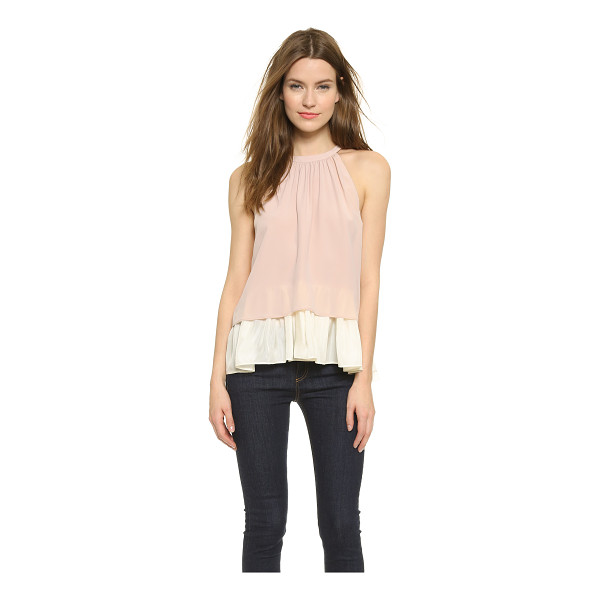 OTTE NEW YORK Double layer halter blouse - A swingy OTTE NEW YORK blouse made from two layers of luxe...