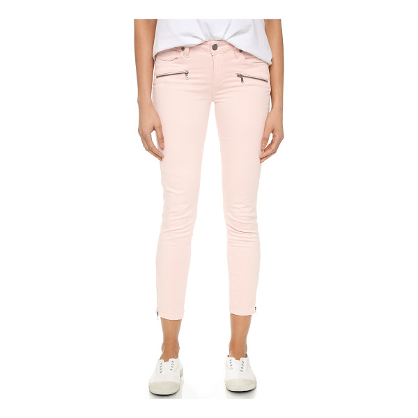 PAIGE Jane zip crop pants - Exposed zips lend a moto inspired look to these soft Paige...