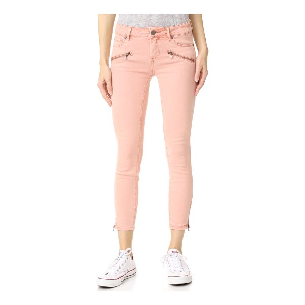 PAIGE jane zip crop jeans - Exposed zips at the ankle slits and faux front pockets lend...