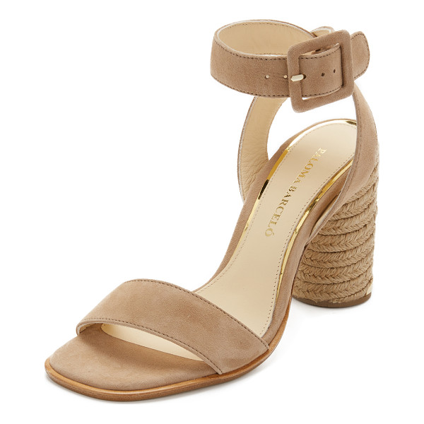 PALOMA BARCELO Fabienne sandals - Suede Paloma Barcelo sandals with braided trim and metallic...