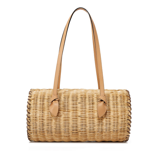 PAMELA MUNSON the agatha satchel - A hinged PAMELA MUNSON satchel in woven straw. The magnetic