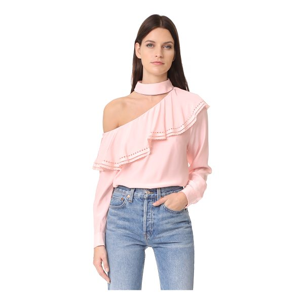 PARKER bellini blouse - A silk Parker blouse with one-shoulder styling and cutwork...