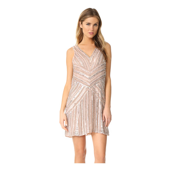 PARKER black lucy dress - Angular rows of shining sequins make this silk Parker mini...