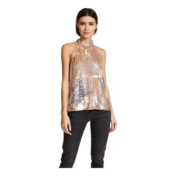 PARKER vika sequin top - Polished sequins lend liquid luster to this glamorous...