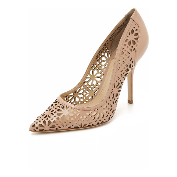 PAUL ANDREW Dasha pumps - These pointed toe, patent leather Paul Andrew pumps are...