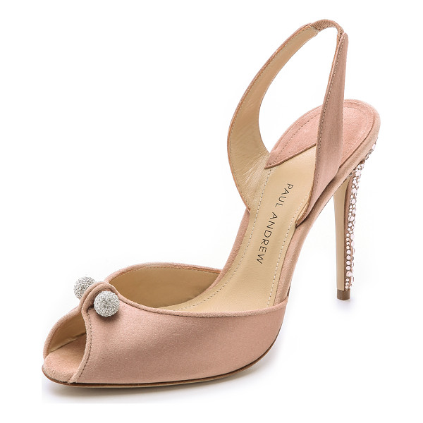 PAUL ANDREW Orbit heels - Glamorous satin Paul Andrew sandals with a charming, party...