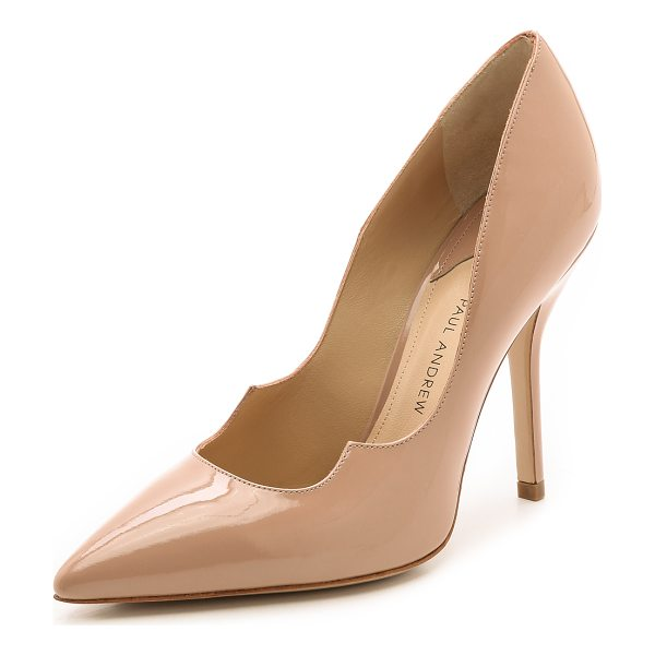 PAUL ANDREW zenadia pumps - Sleek nude Paul Andrew pumps are updated with the signature...