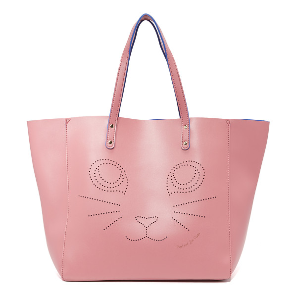 PAUL & JOE SISTER Fustave tote - A perforated cat graphic adds charm to this roomy Paul &