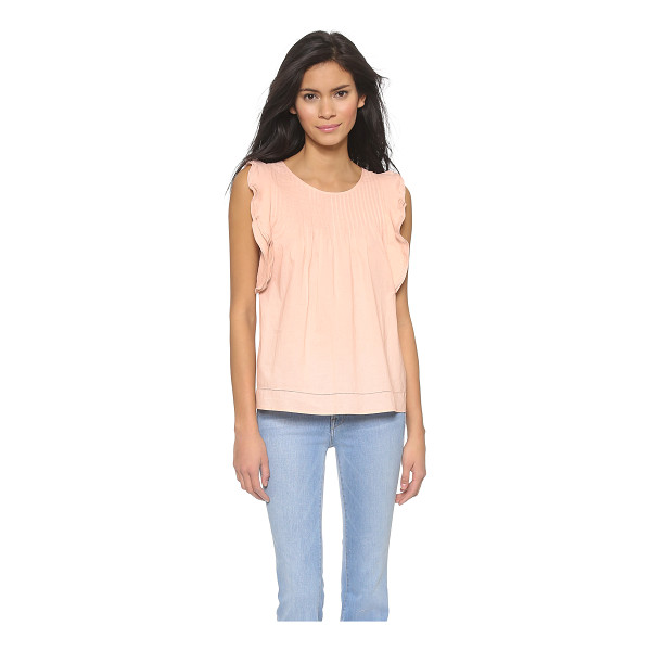 PAUL & JOE SISTER Paganini top - Layers of scalloped ruffles frame the arm openings on a...