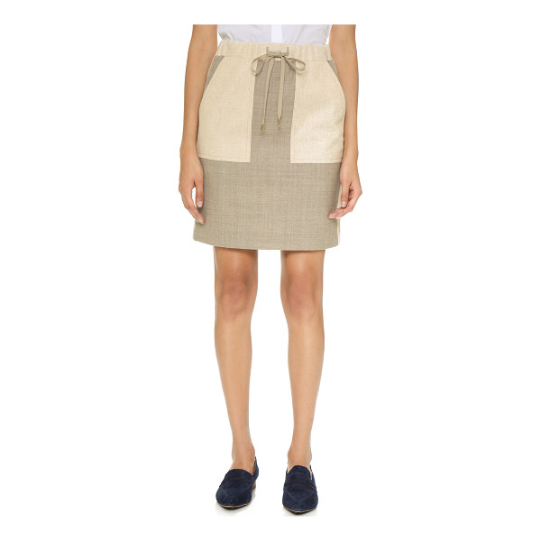 PAUL SMITH Paneled drawstring skirt - A simple Paul Smith skirt in a soft wool blend. Muted...