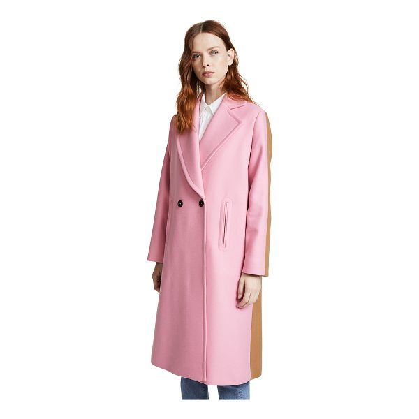 PAUL SMITH two tone coat - Clean lines give this Paul Smith overcoat classic appeal,...