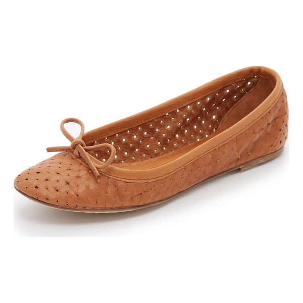 PEDRO GARCIA Abery perforated flats - Soft, perforated leather composes these Pedro Garcia ballet...