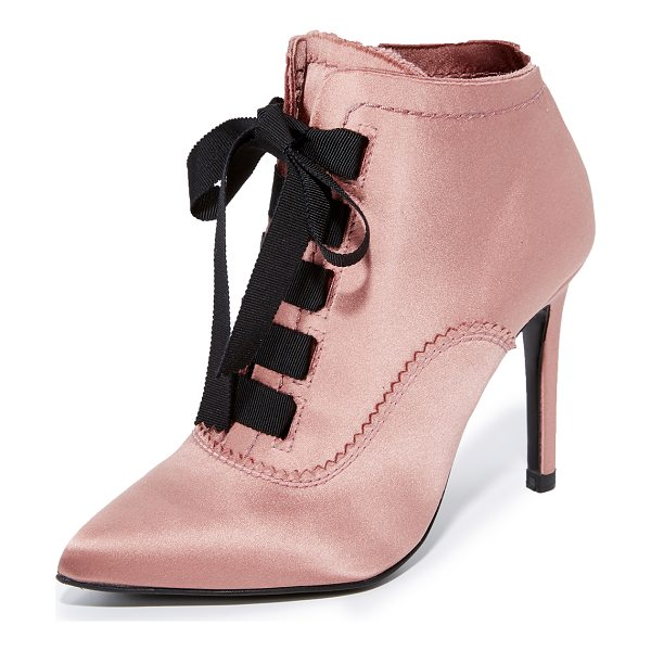 PEDRO GARCIA ana lace up booties - Raw hems adds a subtle, undone feel to these elegant satin...