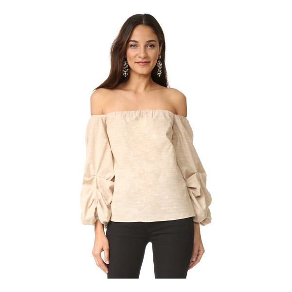 PETERSYN mckenzie top - A slubbed, off shoulder Petersyn top with a flirty,...
