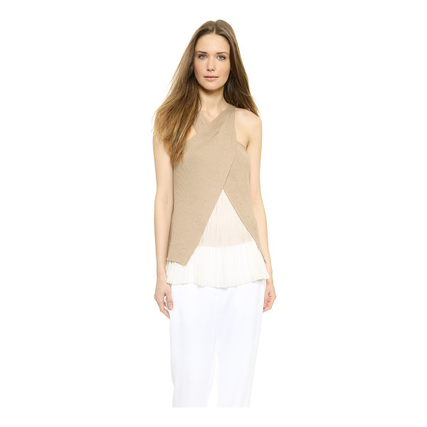 PHILOSOPHY Sleeveless top - A pleated chiffon camisole lining gives this PHILOSOPHY top...