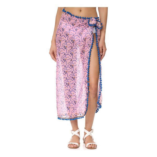 POUPETTE ST BARTH chacha pareo - This lightweight Poupette St Barth wrap is detailed with a...