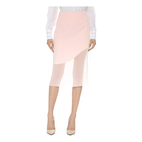 PRABAL GURUNG Satin skirt - A silk Prabal Gurung skirt with curved seams. Delicate...