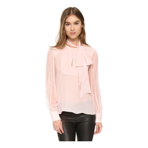 PRABAL GURUNG Tie neck blouse - Narrow shutter pleats bring delicate detail to this airy...