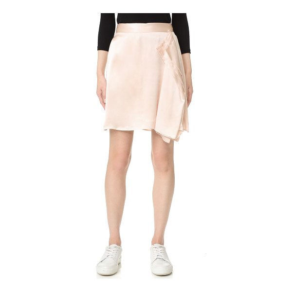 PUBLIC SCHOOL gina skirt - A raw-edged handkerchief overlay gives this silk Public