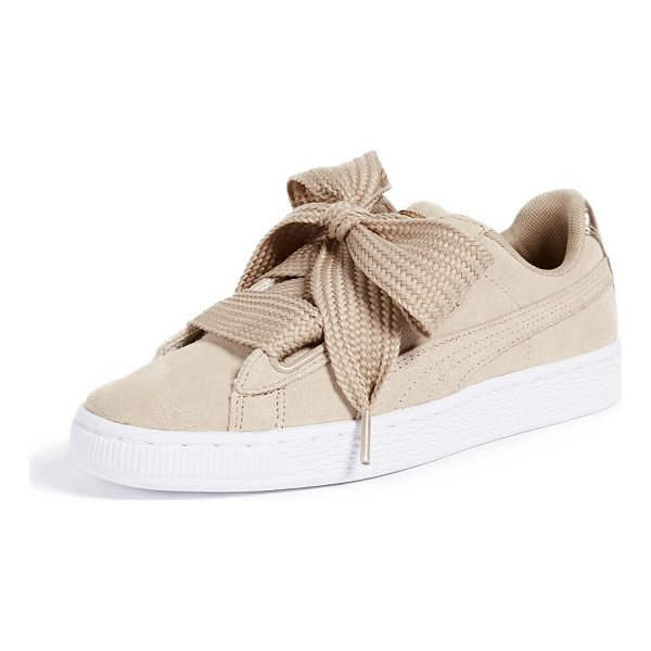 PUMA basket heart safari sneakers - Leather: Cowhide Wide grommets Comes with satin and woven...