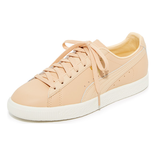 PUMA clyde natural sneakers - NOTE: Sizes listed are US Mens. Please see Size & Fit tab.