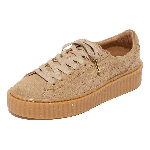 PUMA Creeper lace up sneakers - A ridged platform lifts these suede PUMA sneakers. Metallic