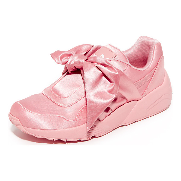PUMA fenty x  bow trinomic sneakers - From Rihanna's FENTY x PUMA collection, luxe satin sneakers...