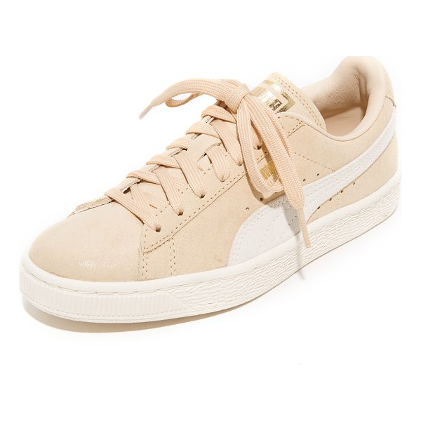 PUMA suede classic shine sneakers - Classic suede PUMA sneakers will metallic logo accents and...