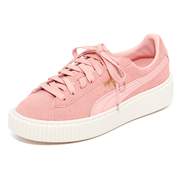 PUMA suede platform core sneakers - Suede PUMA sneakers with a logo accent and metallic...