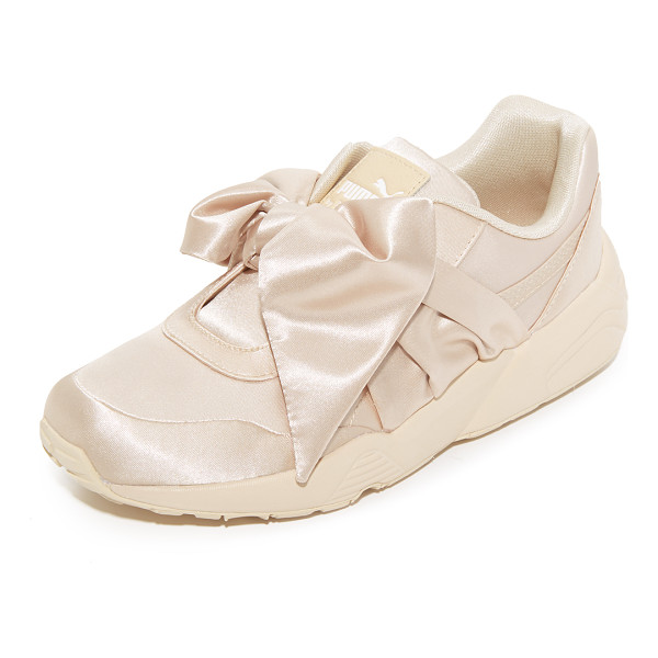 PUMA fenty x  bow sneakers - From Rihanna's FENTY x PUMA collection, luxe satin sneakers...