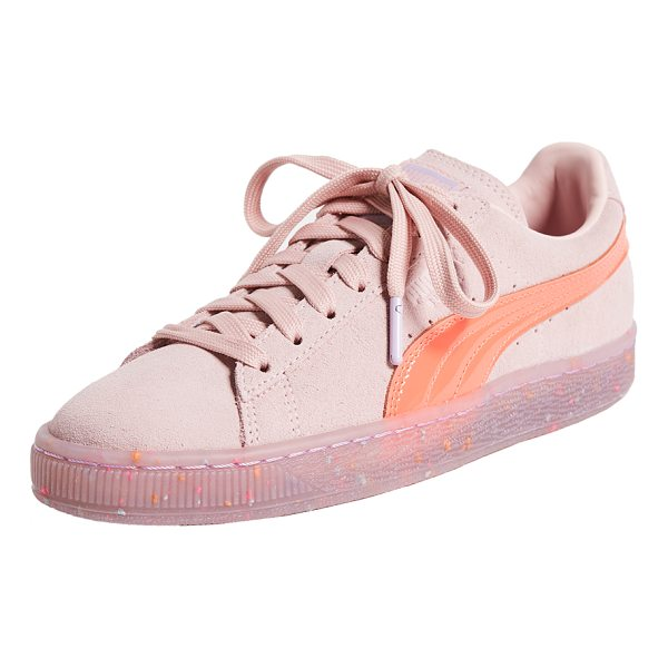 PUMA x sophia webster suede sneakers - Flecks of color float in the transparent platform of these...