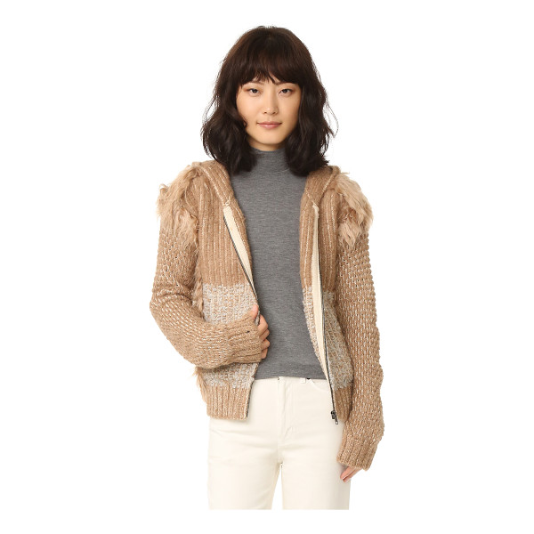 RACHEL COMEY exit knit jacket - Tufts of fur detail the edges of this unique Rachel Comey...