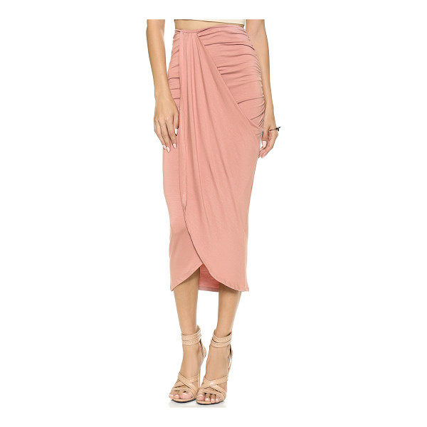 RACHEL PALLY Kerr skirt - A Rachel Pally midi skirt with ruched sides and an...