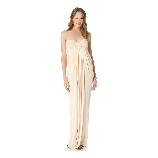 RACHEL PALLY long fortuna dress - This strapless jersey maxi dress features a ruched bodice....