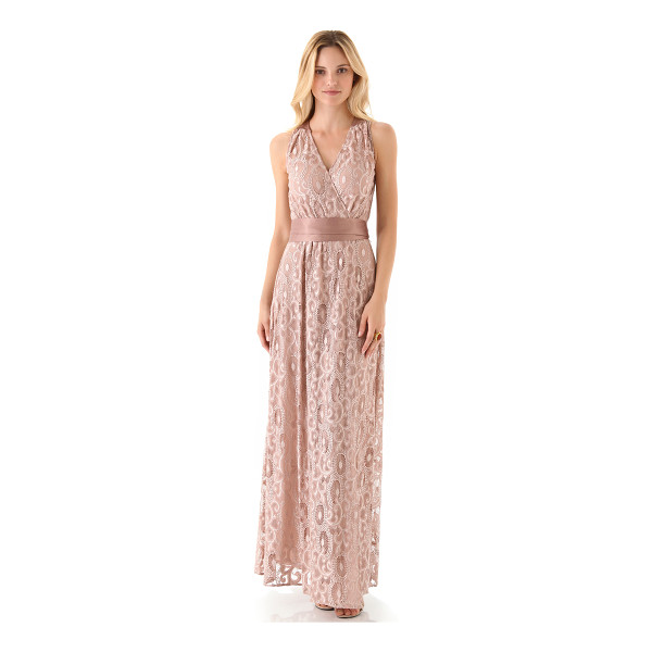 RACHEL ZOE Alice gown - Softly shining threads create a raised pattern across the...