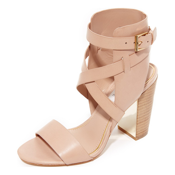 RACHEL ZOE delella sandals - Crisscross straps cover the ankle cuff on these...