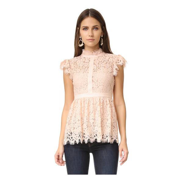 RACHEL ZOE high neck paneled lace blouse - Exclusive to Shopbop. A Rachel Zoe blouse in pleated lace,...
