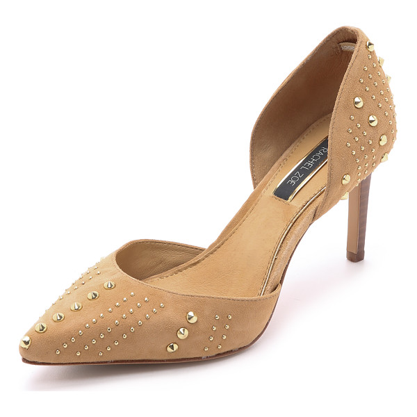 RACHEL ZOE Holly suede dorsay heels - These d'orsay Rachel Zoe pumps have stud accents for a punk...