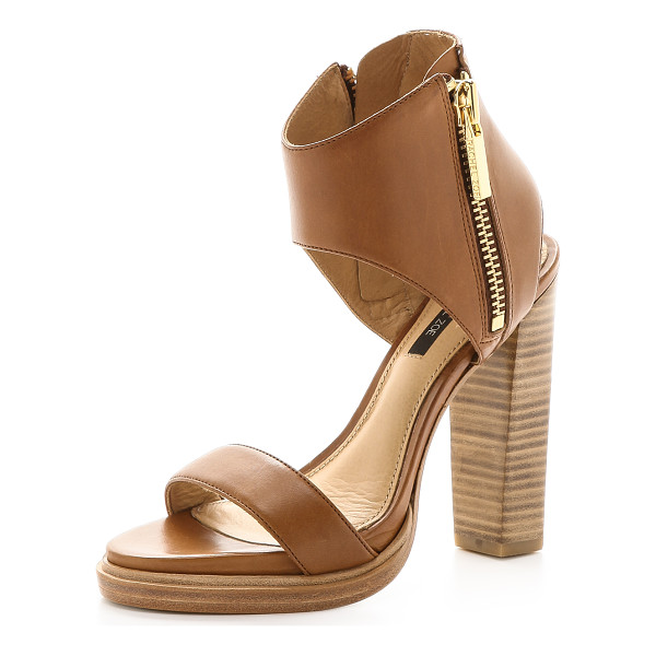 RACHEL ZOE Jamie cuffed sandals - Industrial zip closures add an eye catching element to...