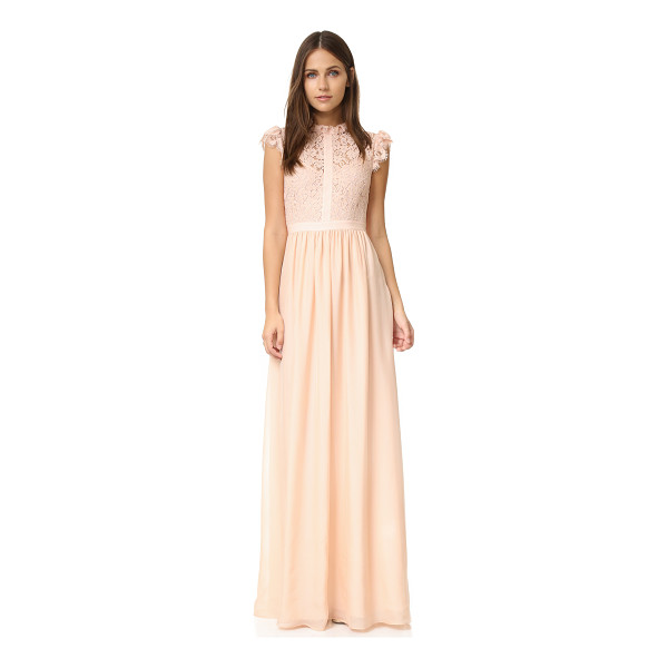 RACHEL ZOE lace paneled gown - Exclusive to Shopbop. French lace forms the bodice of this...