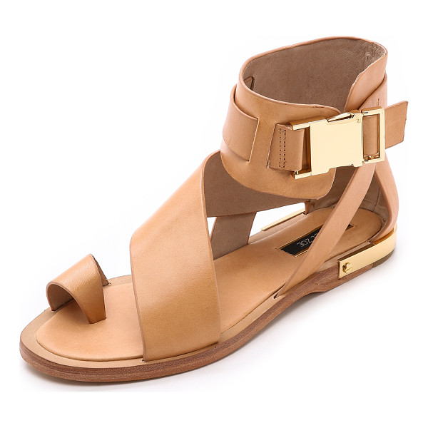 RACHEL ZOE Poppie sandals - Fluid, asymmetrical straps lend a wrapped look to leather
