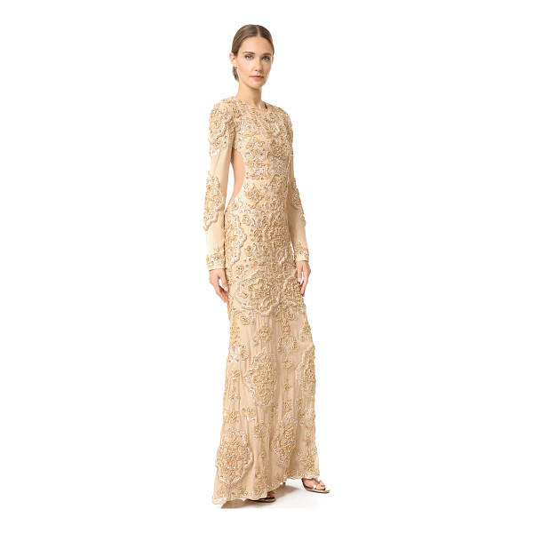 RACHEL ZOE sunny gown - Baroque sequins and sparkling stones lend a regal finish to...