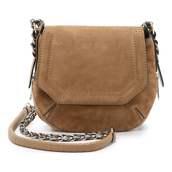 RAG & BONE Bradbury mini flap chain hobo bag - A saddle shaped Rag & Bone cross body bag crafted in soft