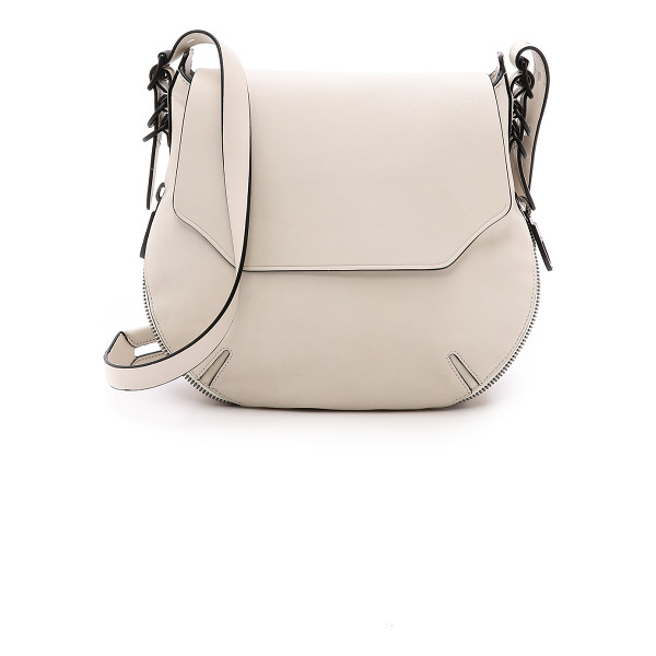 RAG & BONE Bradbury small flap hobo - A two way zip trims the bottom and adjusts the depth of