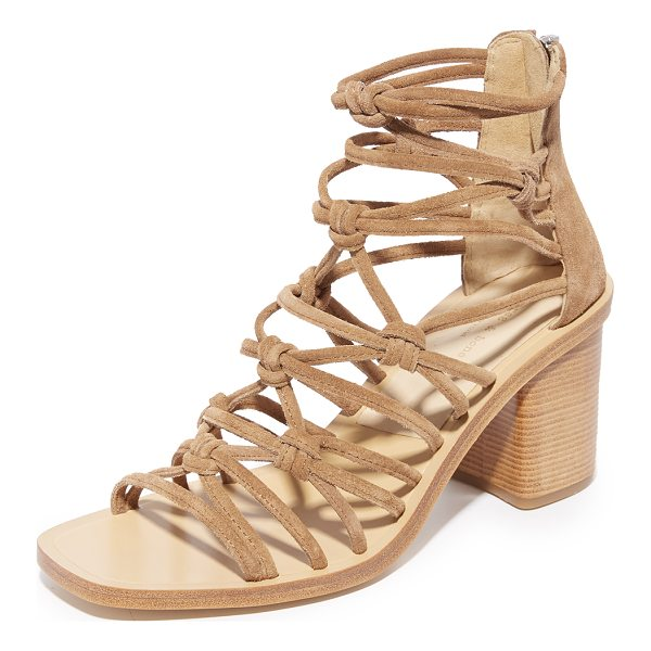 RAG & BONE camille sandals - Knotted crisscross straps form the upper of these open-toe...