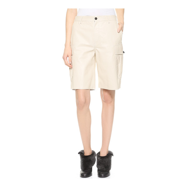 RAG & BONE Combat leather shorts - Rag & Bone cargo shorts cut from luxurious leather offer an...